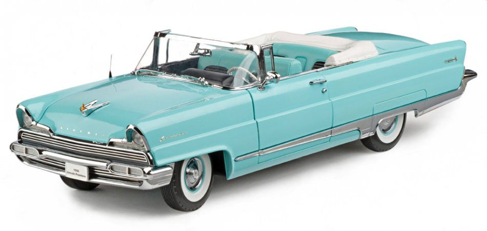 Lincoln Premiere Convertible 1956 Sun Star Platinum 1/18