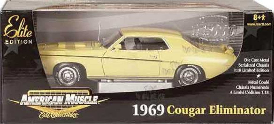 Mercury Cougar Eliminator 1969 ERTL American Muscle 1/18