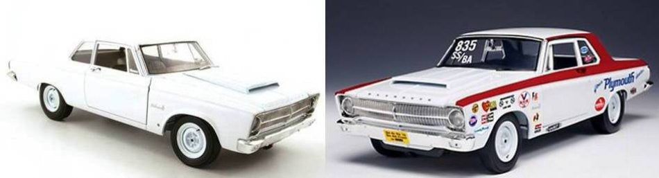 Plymouth Belvedere 1965 Customizable Racer Highway 61 1/18