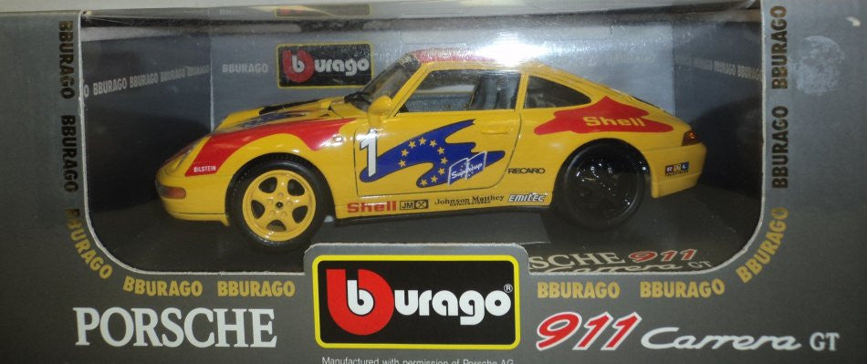 Porsche 911 Carrera Racing 1993 Burago 1/18