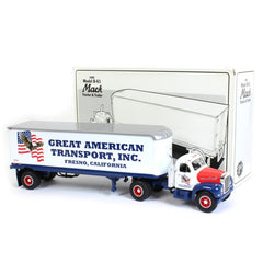 Mack B-61 Tractor and Trailer 1960 First Gear 1/34