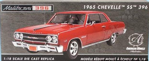 Chevrolet Chevelle SS 396 1965 ERTL American Muscle Authentics 1/18