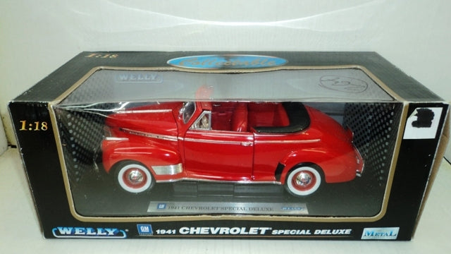 Chevrolet Special Deluxe Convertible 1941 Welly 1/18