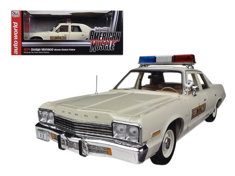Dodge Monaco Police 1974 Auto World 1/18