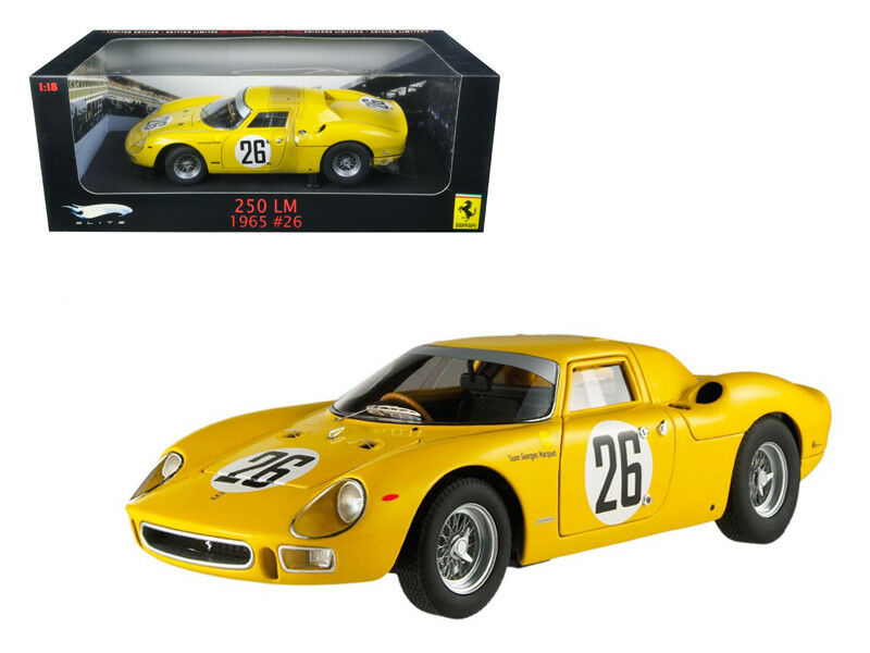 Ferrari 250 LM 1965 Hot Wheels Elite 1/18