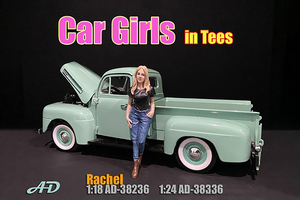 Figurine Car Girls in Tees Rachel American Diorama 1/18