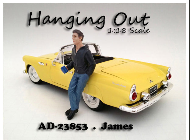 Figurine James Hanging Out American Diorama 1/18