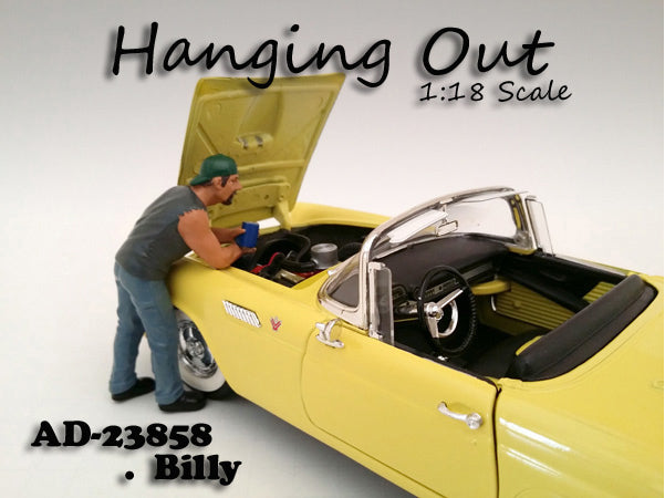 Figurine Billy Hanging Out American Diorama 1/18