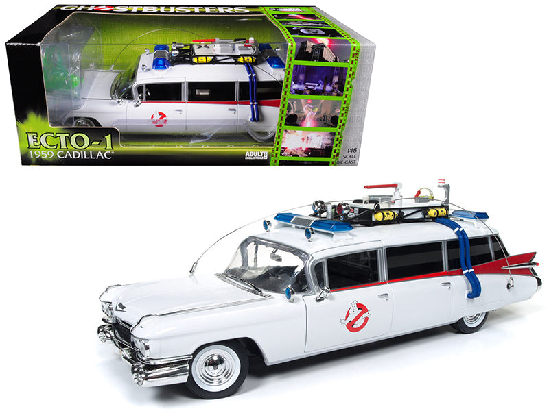 Cadillac 1959 Ambulance Ghostbusters ECTO-1 Auto World 1/21