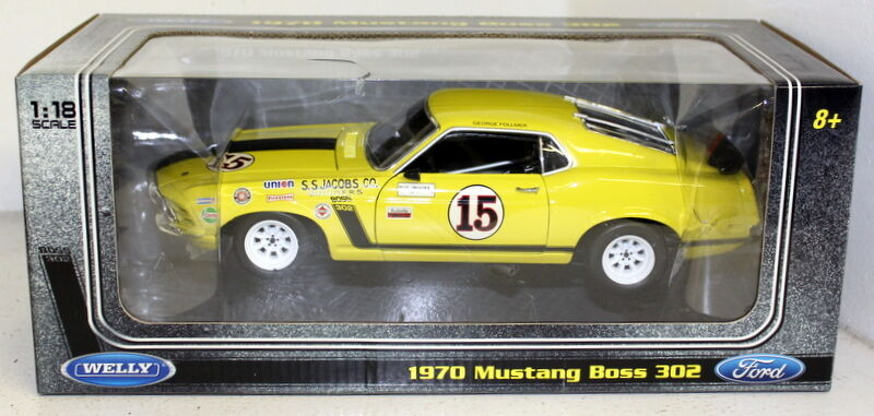 Ford Mustang Boss 302 Welly 1/18