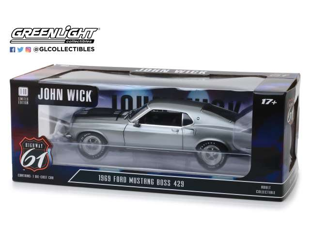 Ford Mustang Boss 429 1969 Highway 61 1/18