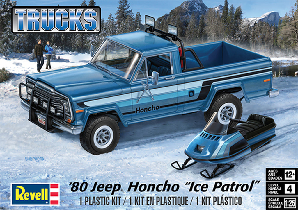 Jeep Honcho Pick Up Ice Patrol Revell 1/25