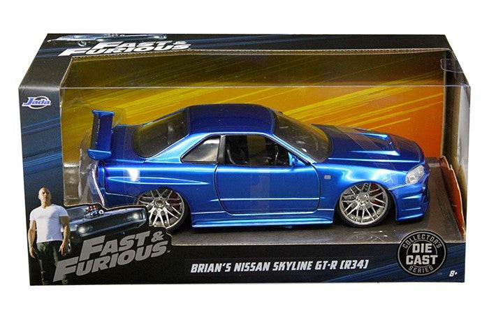 Nissan Skyline GT-R (R34) Fast and Furious Jada 1/24