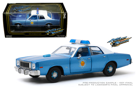 Plymouth Fury Police Pursuit 1975 Greenlight 1/24