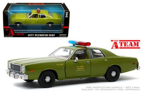 Plymouth Fury 1977 U.S. Army The A-Team Greenlight 1/24