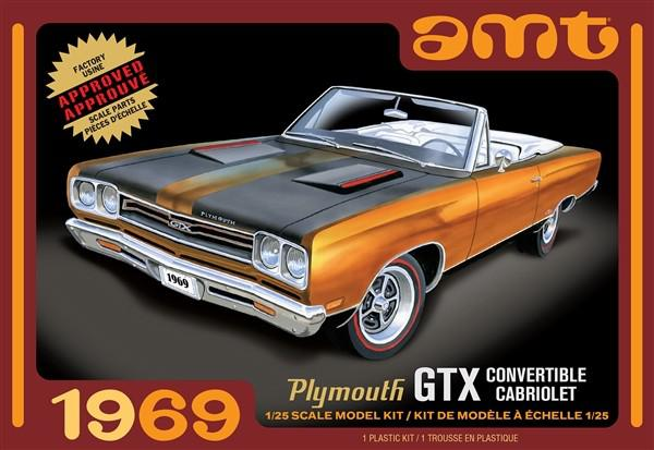 Plymouth GTX Convertible 1969 AMT 1/25