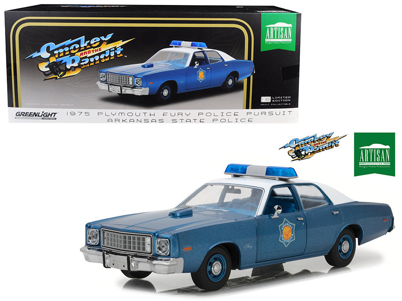 Plymouth Fury Police Pursuit 1975 Greenlight Artisan 1/18