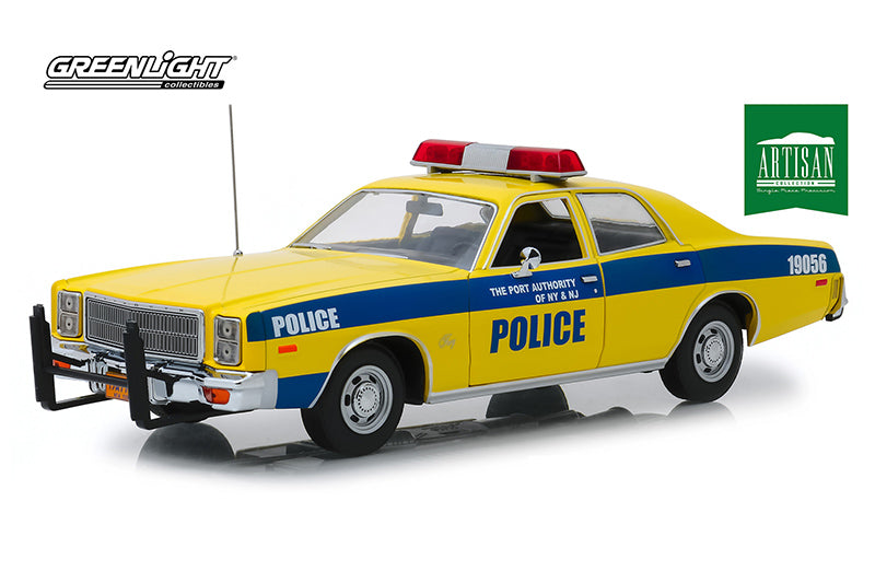 Plymouth Fury 1977 Police The Port Authority of New York & New Jersey Greenlight Artisan 1/18