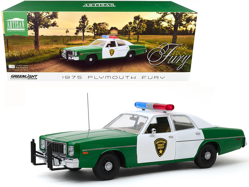 Plymouth Fury 1977 Police Chickasaw County Sheriff Greenlight Artisan 1/18