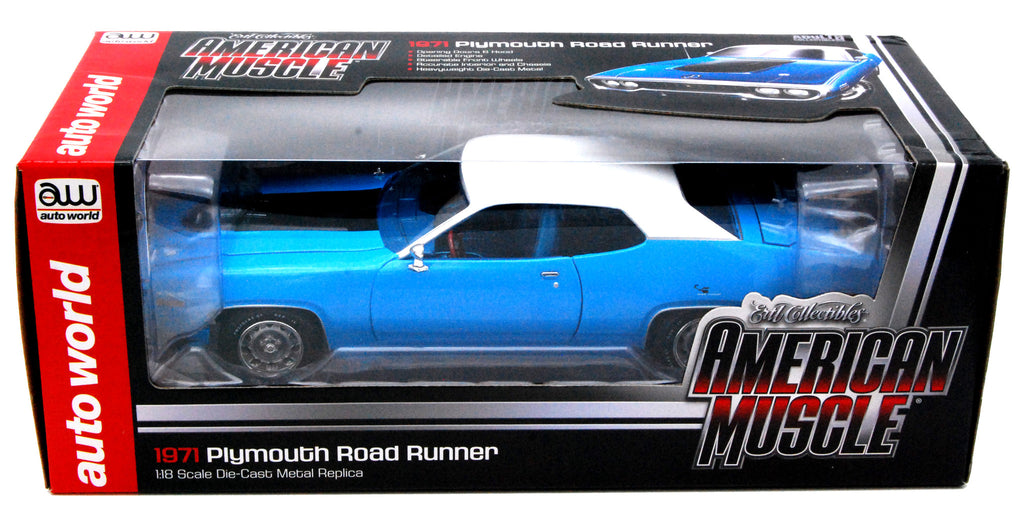 Plymouth Road Runner 1971 Auto World 1/18