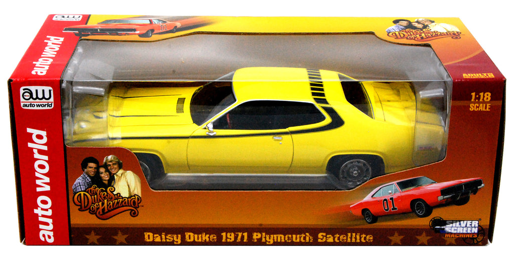Plymouth Satellite 1971 Daisy Duke Autoworld 1/18