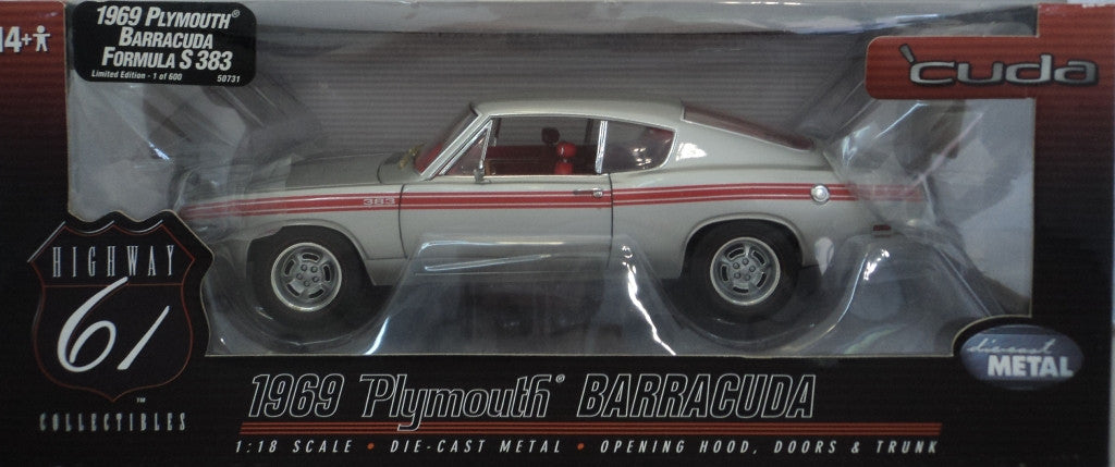 Plymouth Barracuda Formula S 383 1969 Highway 61 1/18
