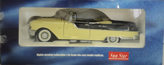 Pontiac Star Chief Convertible 1955 Sun Star Platinum 1/18
