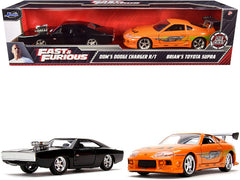 Dodge Charger R/T 1970 et Toyota Supra Fast & Furious Jada 1/32