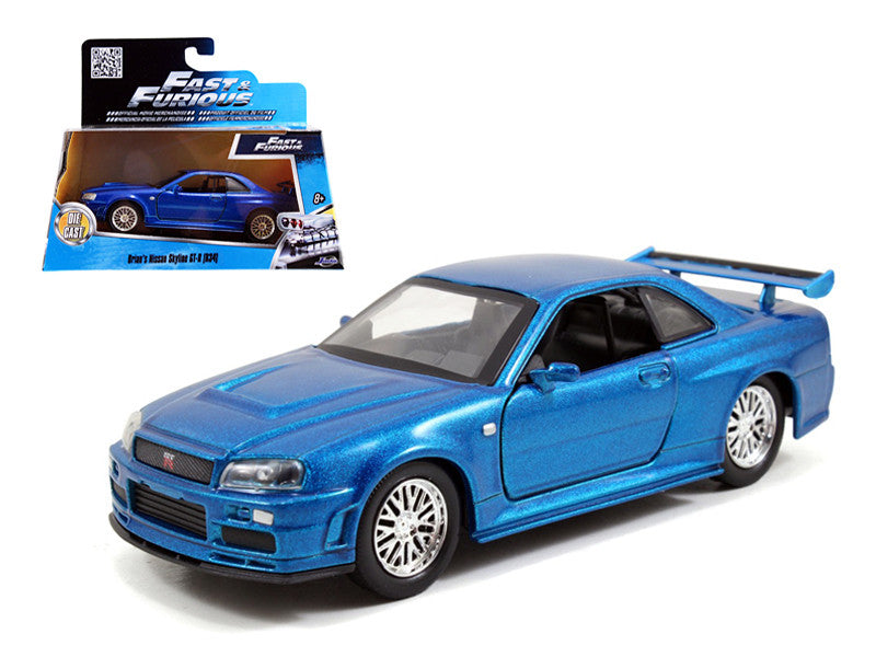 Nissan Skyline GT-R (R34) Fast and Furious Jada 1/32