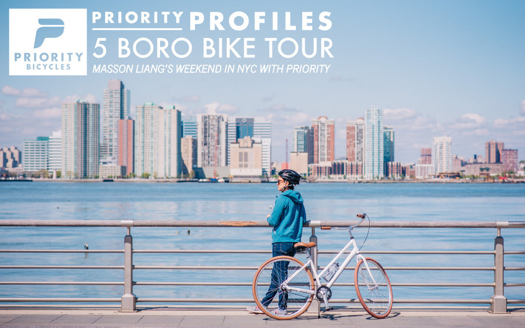 PRIORITY PROFILE: 5 BORO BIKE TOUR 2016 WITH MASSON LIANG