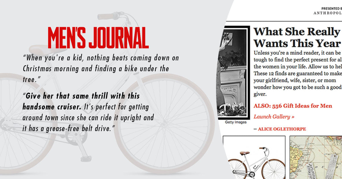 "MEN'S JOURNAL FEATURES THE CLASSIC STEP-THROUGH IN BEST ""GIFTS FOR HER"""
