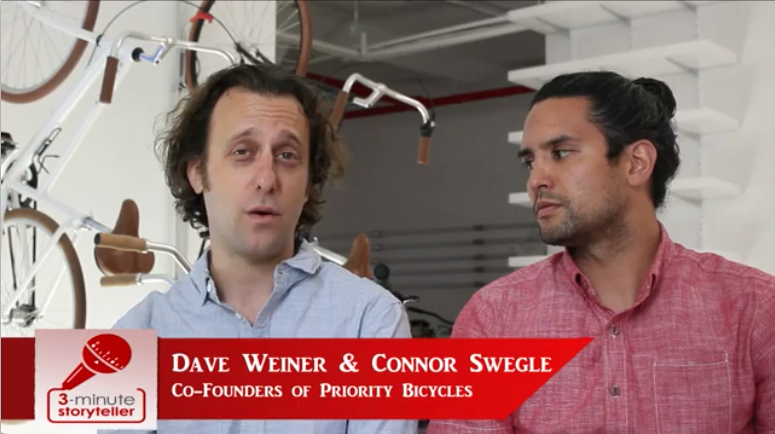 Dave Weiner & Connor Swegle featured on 3-Minute Storyteller