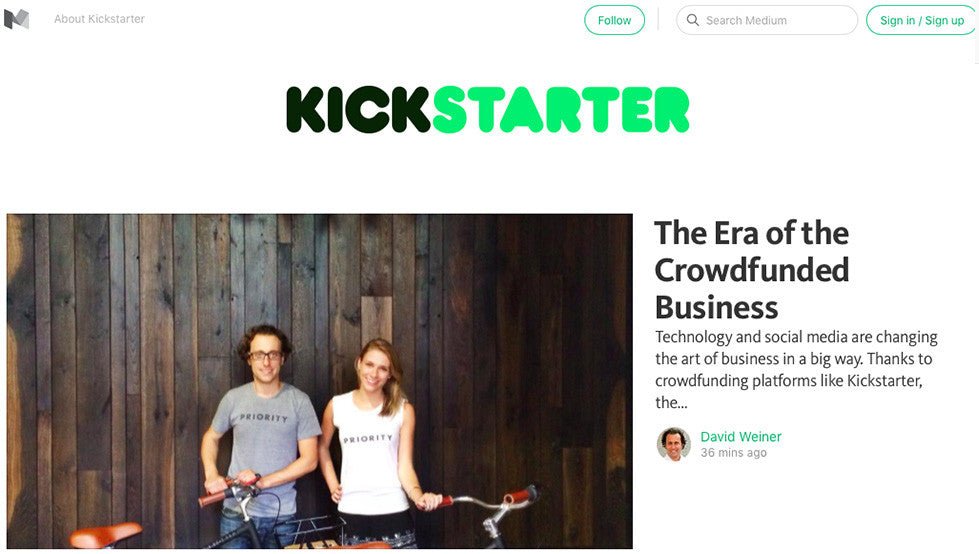 THE ERA OF THE CROWDFUNDED BUSINESS BY KICKSTARTER