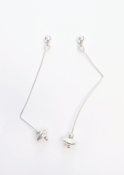 Sia - Silver Asymmetric Earrings