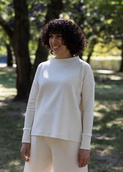 Andes - Pullover in Ivory Jacquard
