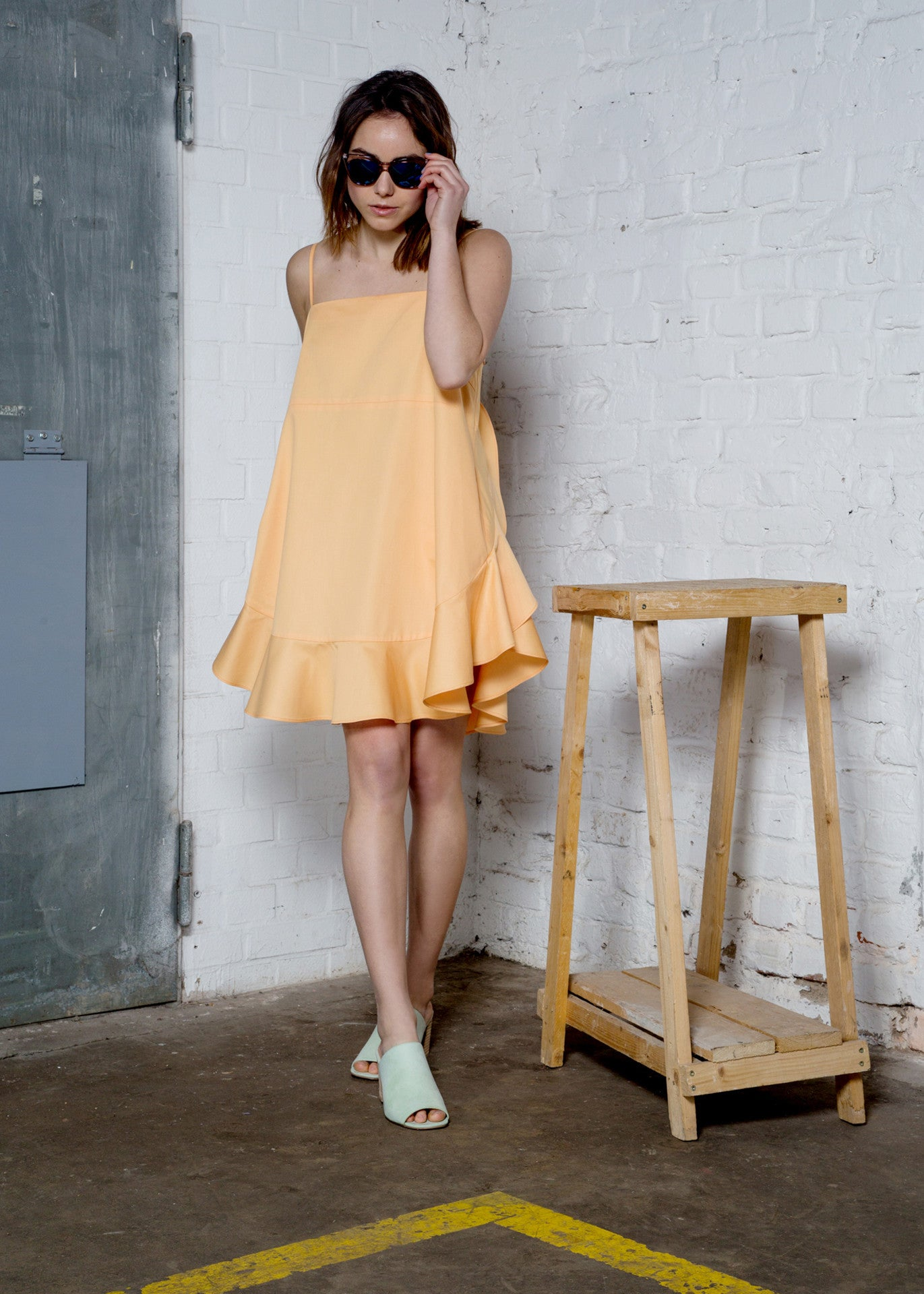 Organic cotton dress with ruffles