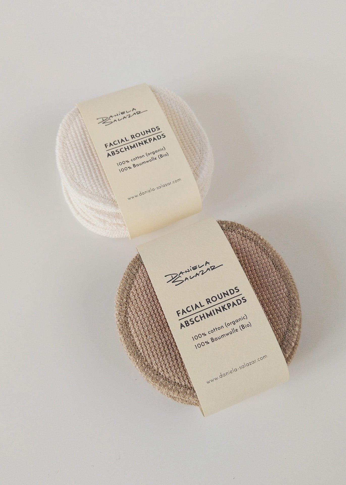 Organic Cotton Face Pads - Ivory