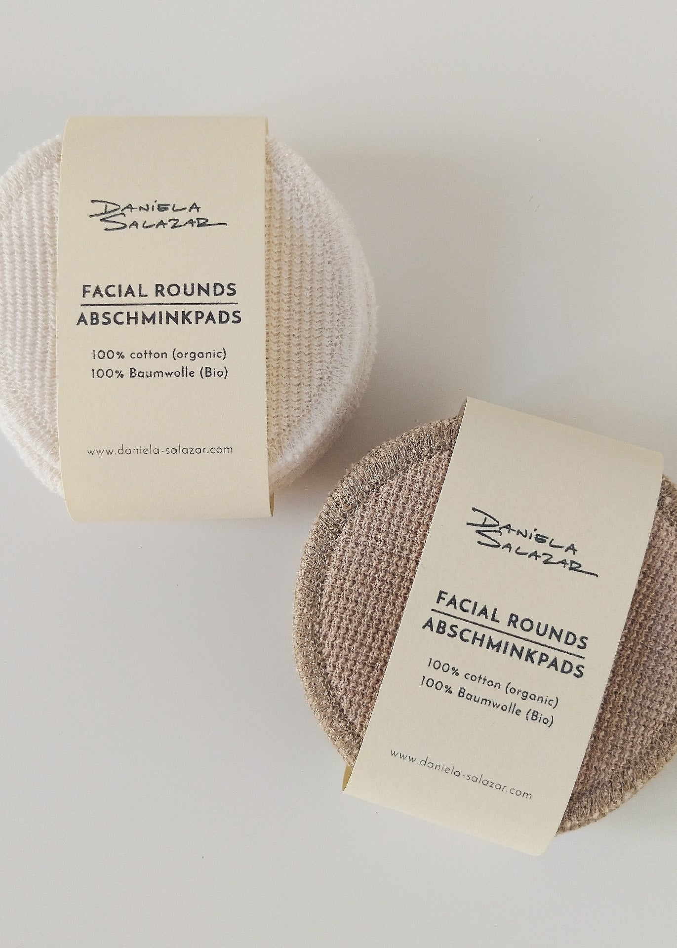 Organic Cotton Face Pads - Camel
