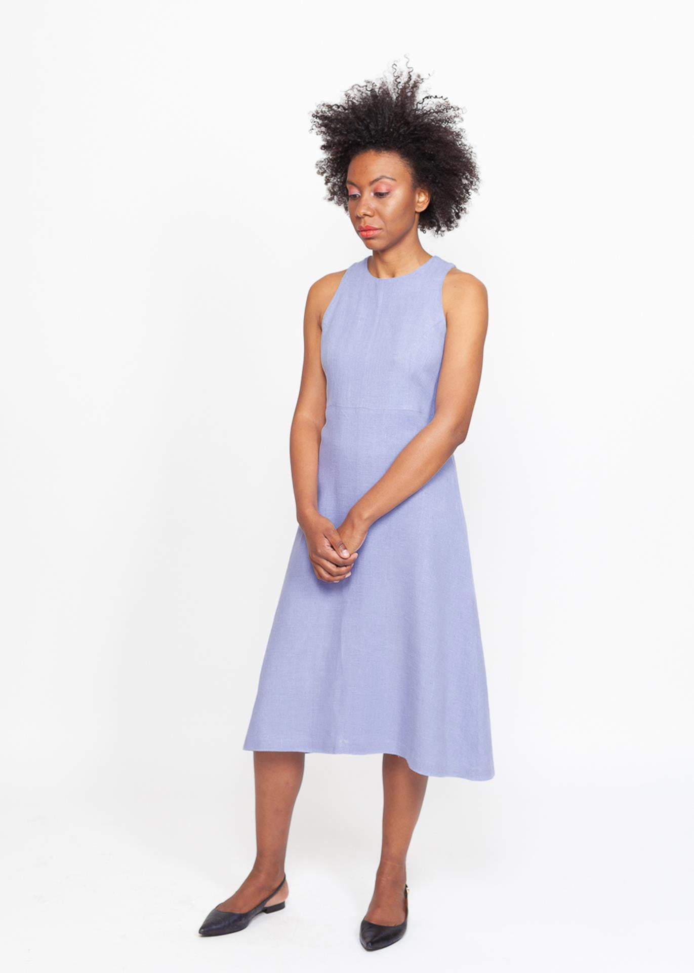 Flora - Halter Dress in Lavender