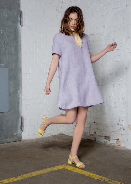 Lavender organic hemp dress