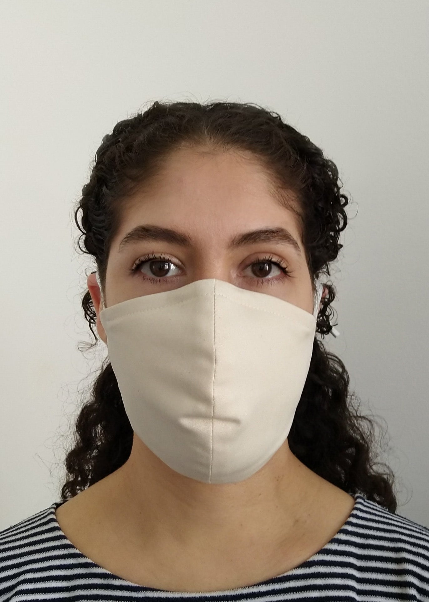 Organic Cotton Nose-Mouth Mask - White