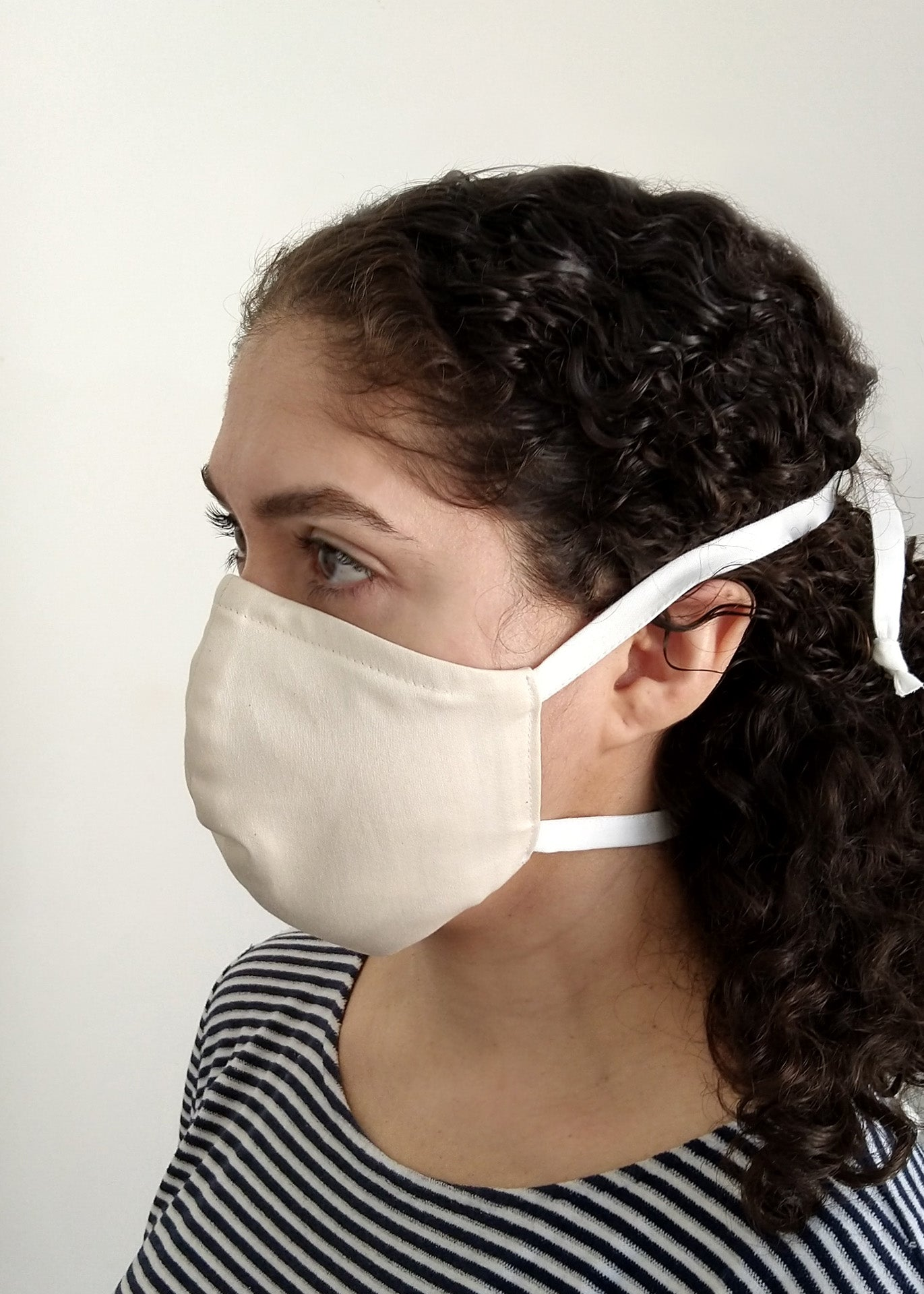 Organic Cotton Nose-Mouth Mask - Orange