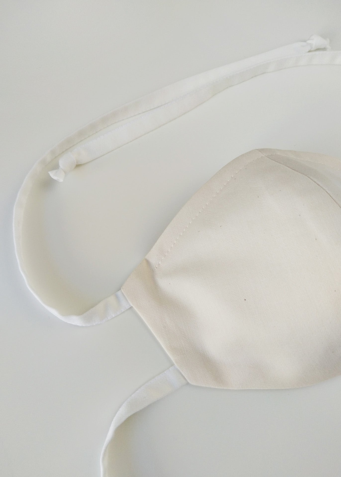 Organic Cotton Nose-Mouth Mask - Beige