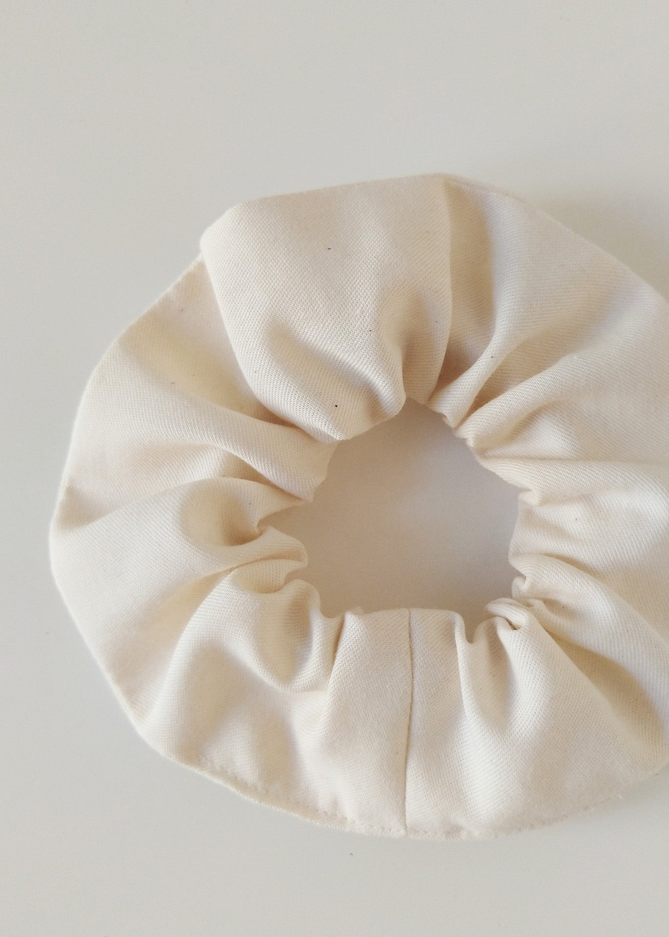 Organic Cotton Scrunchie - Ecru