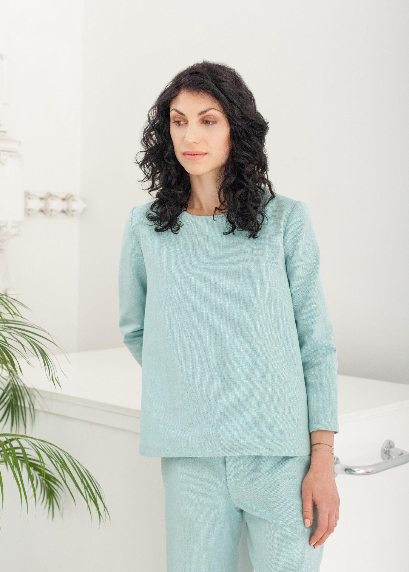 "Triadic – ""A"" line top in Green"