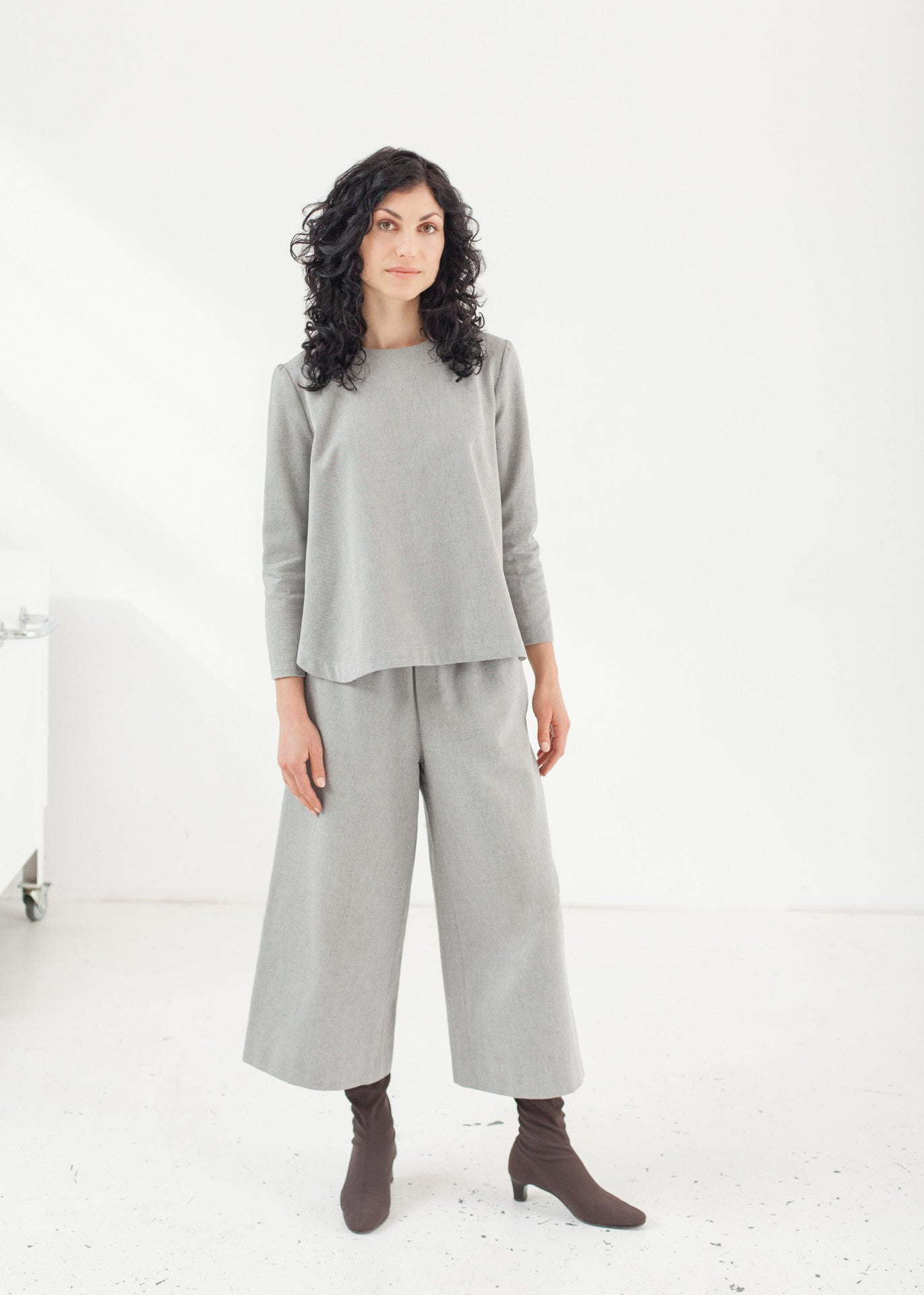 "Triadic – organic cotton ""A"" line top"