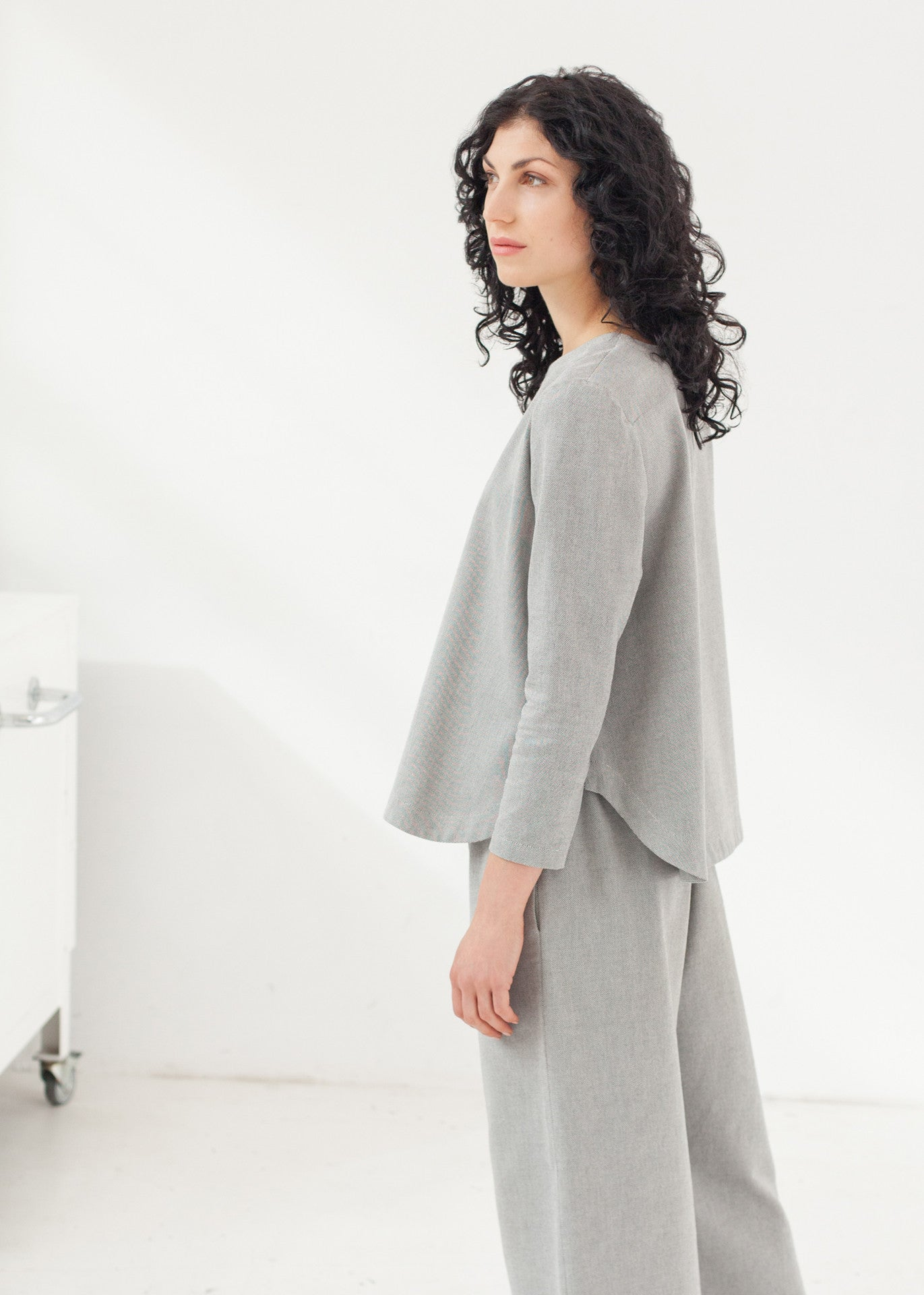 "Triadic – ""A"" line top in Grey"