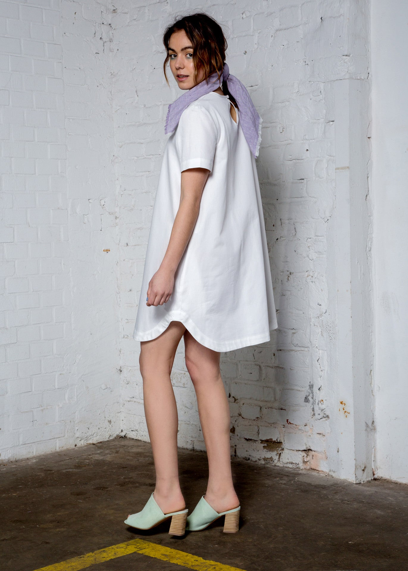White organic cotton dress