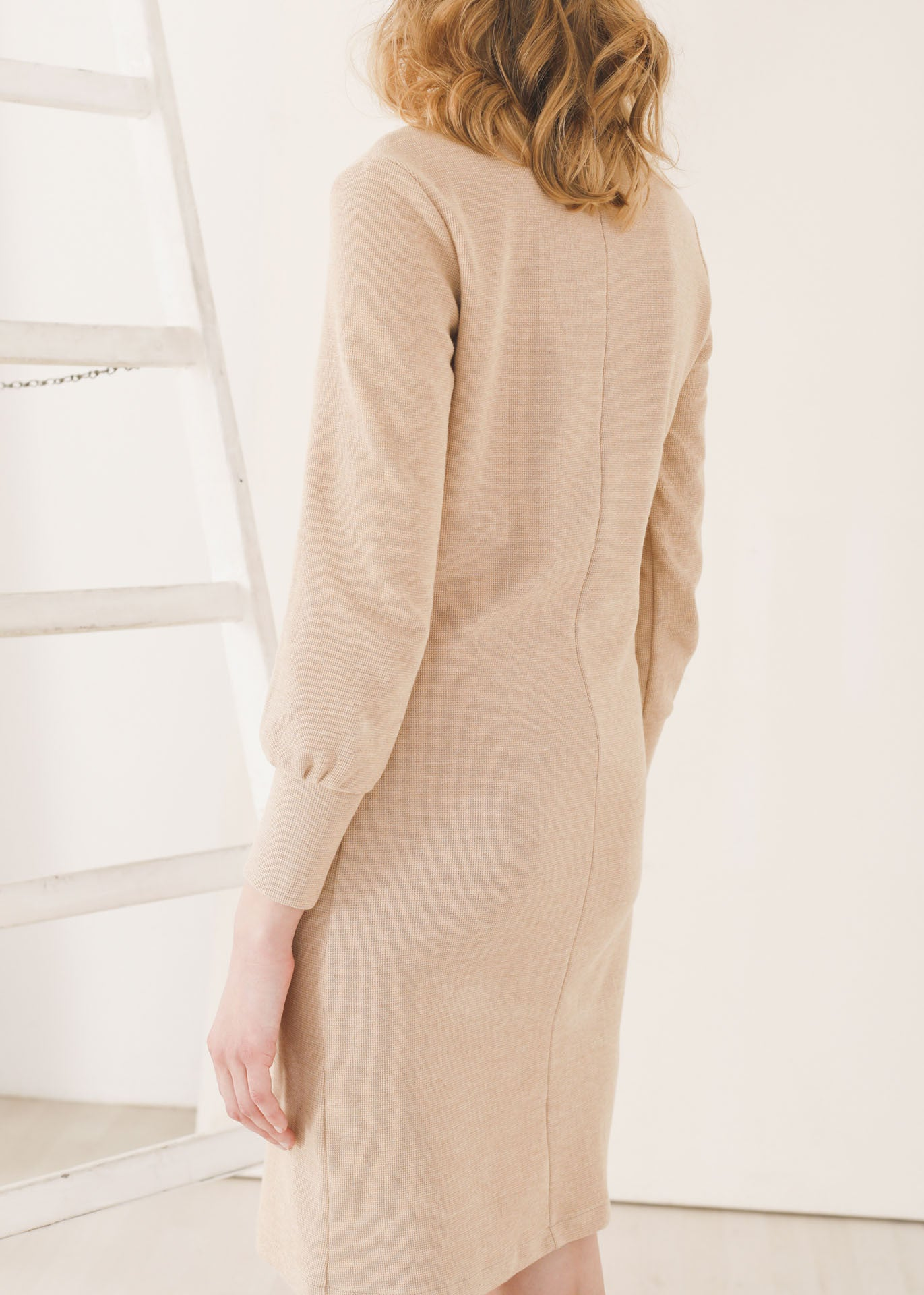 Tana - Sweater Dress in Camel