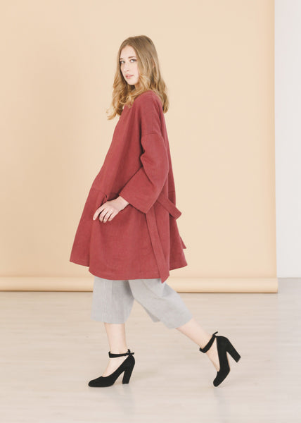 Nocturne - Burgundy Coat